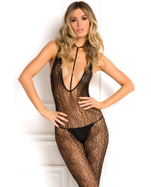 Rene Rofe Holy Plunge Harness Bodystocking Black O-s