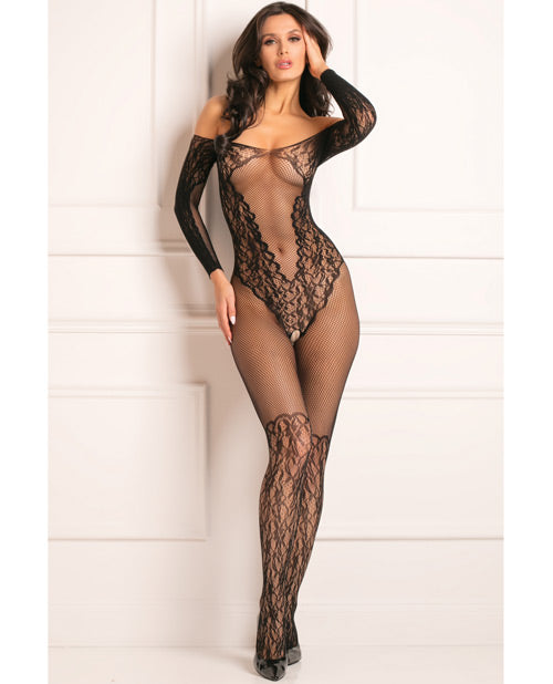 Rene Rofe Make You Melt Bodystocking Black O-s