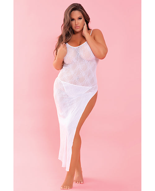 Rene Rofe Take The Heat Lace Gown White Qn