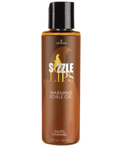 Sensuva Sizzle Lips Warming Gel - 4.2 Oz Salted Caramel