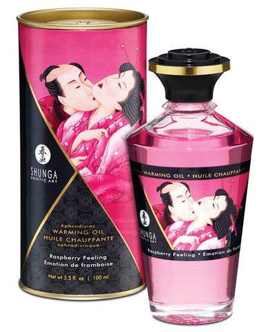 Shunga Warming Oil Raspberry Feeling  - 3.5 Oz.