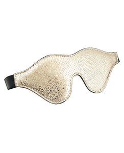 Spartacus Blindfold W-leather - White Snakeskin Micro Fiber
