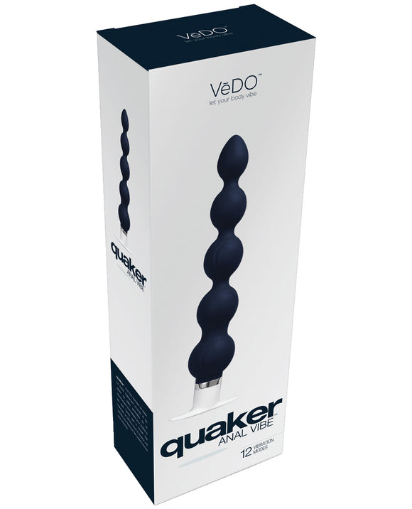 Vedo Quaker Anal Vibe - Just Black