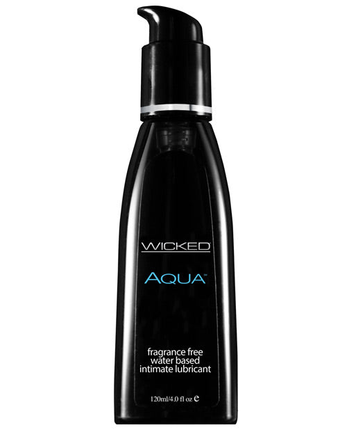 Wicked Sensual Care Aqua Water Based Lubricant - 4 Oz Fragrance Free
