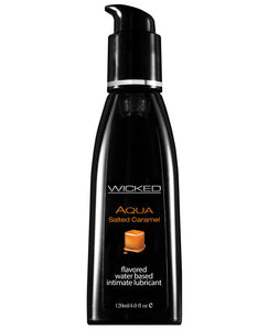 Wicked Sensual Care Aqua Water Based Lubricant - 4 Oz Salted Caramel