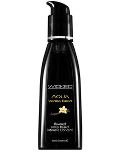 Wicked Sensual Care Aqua Water Based Lubricant - 2 Oz Vanilla Bean