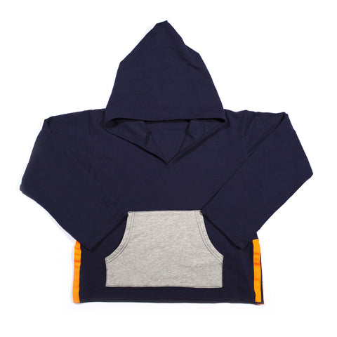 Orange Splice Navy Hoodie