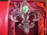 Waterford Crystal 2013 Annual Fleur De Lys ornament with enhancer New In Box