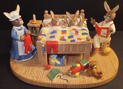 Royal Doulton Bunnykins Annual Tableau 2013 Bedtime Story DB499 Limited # New