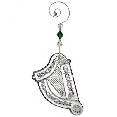 Waterford Crystal 2013 Annual Irish Harp ornament with enhancer New In Box