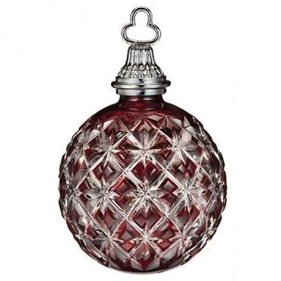 Waterford 2013 Annual Ruby Cased Ball Ornament New In Box