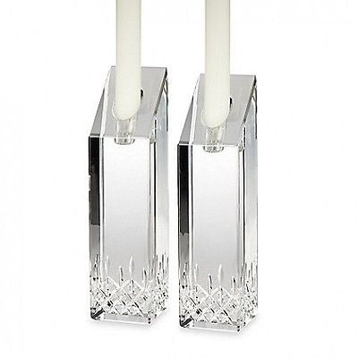 Waterford Crystal Lismore Essence 8 Inch Candlestick Pair New Hand Signed Okeeff