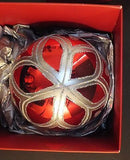 "Waterford Holiday Heirlooms 4"" Ruby Ball 2013 Opulence New In Box"
