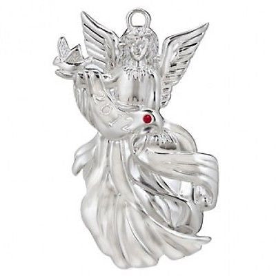 Waterford Silver 2012 Angel of Peace Christmas Ornament Brand New MSRP $40.00
