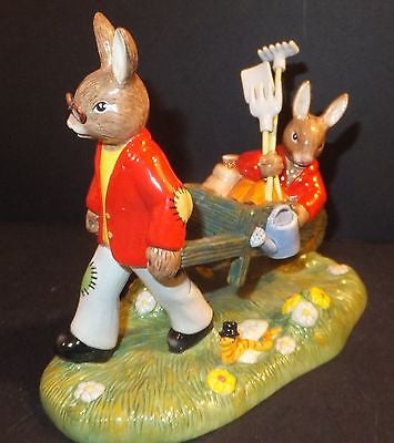 Royal Doulton Bunnykins Tableau 2014 Cuthbert in the Garden DB 511