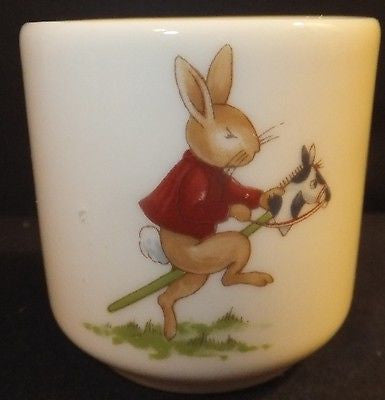 ROYAL DOULTON BUNNYKINS Egg Cup boys mother baby horse NEW IN THE BOX