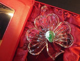 Waterford Crystal 2014 Annual Shamrock ornament with Enhancer New In Box