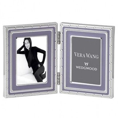 Vera Wang Wedgwood With Love Folding Double Frame 2x3 Lavender New In Box