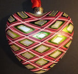Waterford Holiday Heirlooms Plaid Heart ornament Brand New In Box