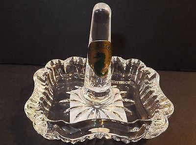 WATERFORD Crystal Ring Holder Rectangle Scalloped New In Box
