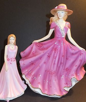 Royal Doulton 2014 Figure of Year Elizabeth HN 5671 & Liz 5677 Petite Signed