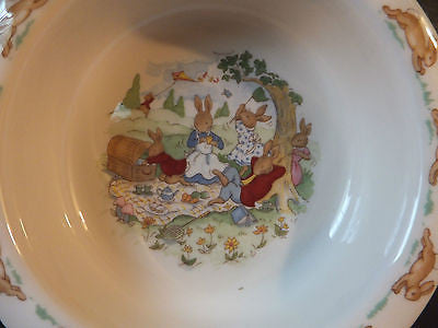 Royal Doulton Bunnykins Traditional Baby Plate Boxed New In Box Picnic