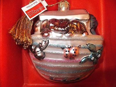 Waterford Marquis 2012 Babys First Noahs Ark Christmas Ornament Brand New In Box