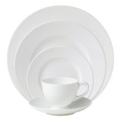 Wedgwood White 5 Piece Place Setting New Two (2) Complete Sets