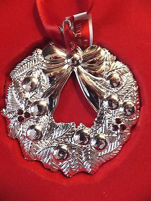 Waterford Silver 2012 Wreath Ornament Brand New In Box