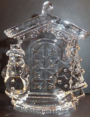 Waterford Crystal 2013 Bless Our Home Ornament with Enhancer New In Box