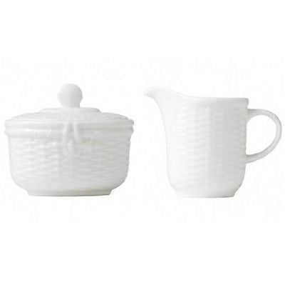 Wedgwood Dinnerware Nantucket Basket Covered Sugar and Creamer New with tag