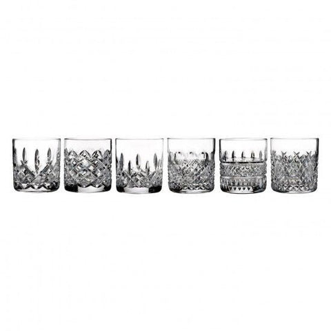 Waterford Crystal HERITAGE Set of SIX 6 Straight Sided Tumblers DOF Glasses New