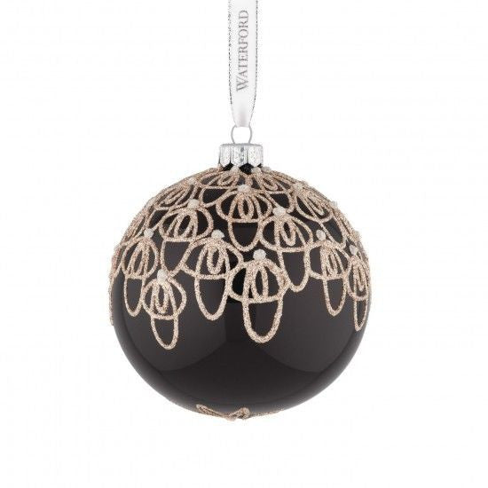 Waterford Holiday Heirlooms 2015 Black Tie Ball Ornament New