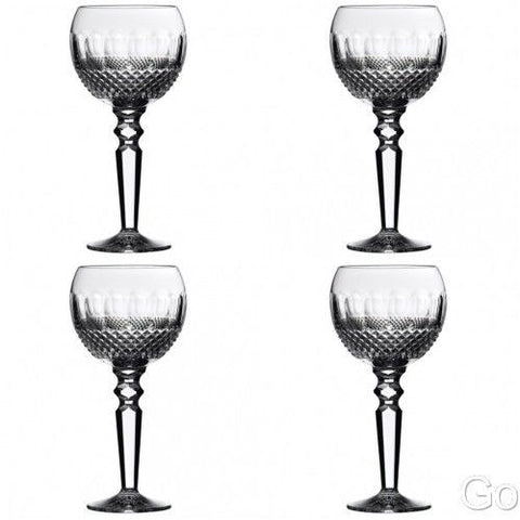 Waterford Colleen Encore (4) Four Crystal Win Glasses #135833 New