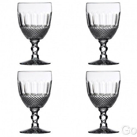 Waterford Crystal Colleen Encore Iced Beverage Glasses Four (4) New