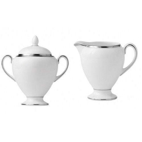 Wedgwood Sterling Covered Sugar and Creamer (2) piece New with Tag