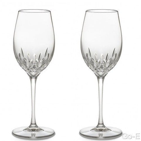 Waterford Crystal Lismore Essence White Wi Pair (2 Glasses) Brand New in Box