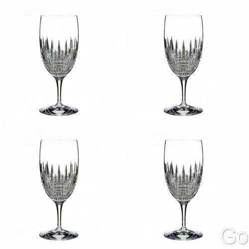 Waterford Lismore Diamond Essence Iced Beverage Glasses New (4) Four Glasses