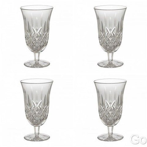 Waterford Crystal Lismore Iced Tea Beverage Glasses Set of Four 4 Glasses New