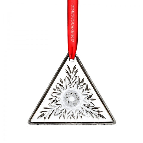 Waterford Crystal 2017 Times Square Gift Of Kindness Triangle Ornament #40015638