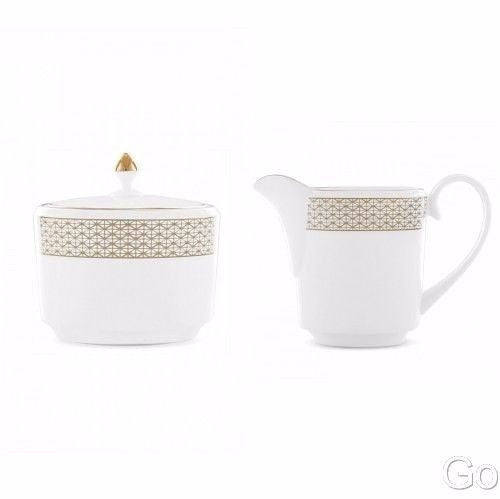 Waterford Lismore Diamond Covered Sugar Bowl and Creamer 2 Piece New with tag