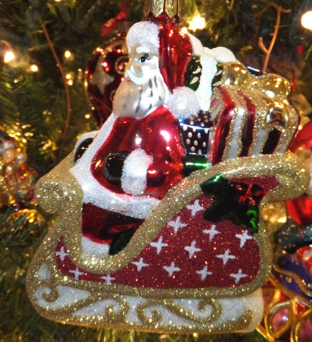 Waterford Holiday Heirlooms 2013 Coming to Town Santa Ornament 2013 New #162967