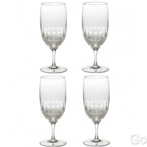 Waterford Crystal Colleen Essence Iced Beverage Tea Glasses Four (4) New