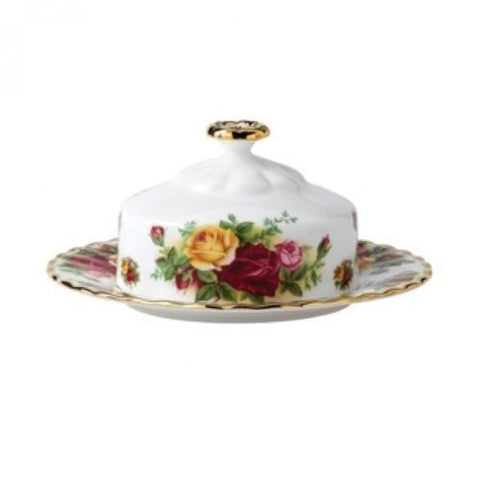 Royal Albert Old Country Roses Covered Butter Dish Brand New with Tag