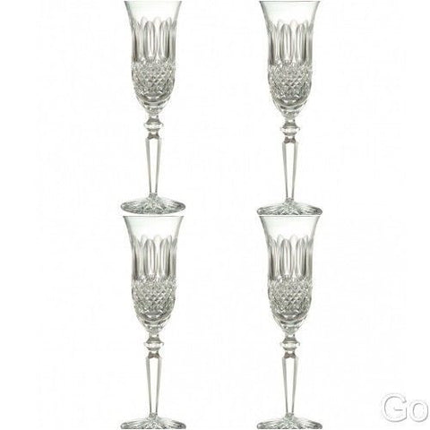 Waterford Crystal Colleen Encore Flute Glasses Four (4) New