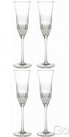 Waterford Crystal Colleen Essence Champ Flute Glasses Four (4) New In Box