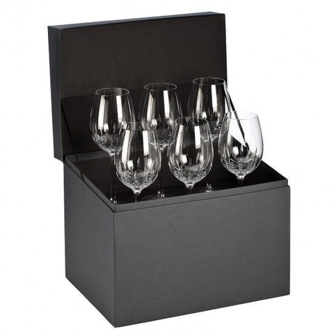 Waterford Crystal LISMORE ESSENCE GOBLET Set of 6 Goblets Glasses #155950