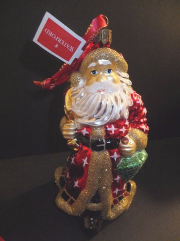 Waterford Holiday Heirlooms Father Christmas Santa Ornament 2013 New #162968
