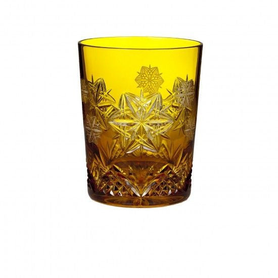 Waterford Snowflake Wishes 2014 Wishes Peace Mooncoin Amber Double Old Fashioned