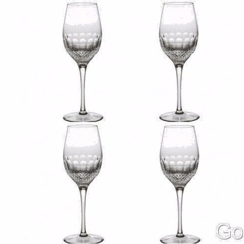 Waterford COLLEEN ESSENCE White Win Goblet Glasses FOUR (4) New #147212